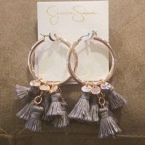 Jessica Simpson Rose Gold Earrings